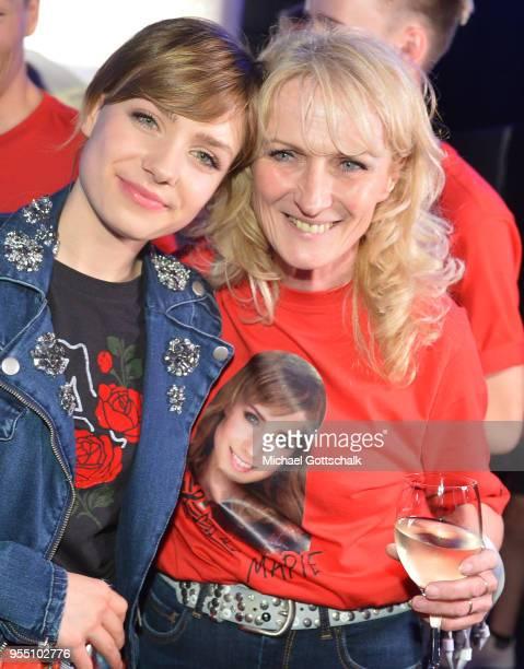 Marie Wegener winner of Deutschland sucht den Superstar with her mother Corinna Wegener after the finals of the tv competition 'Deutschland sucht den...