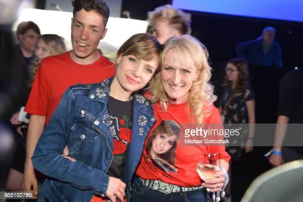 Marie Wegener, winner of Deutschland sucht den Superstar, with her mother Corinna Wegener, after the finals of the tv competition 'Deutschland sucht...