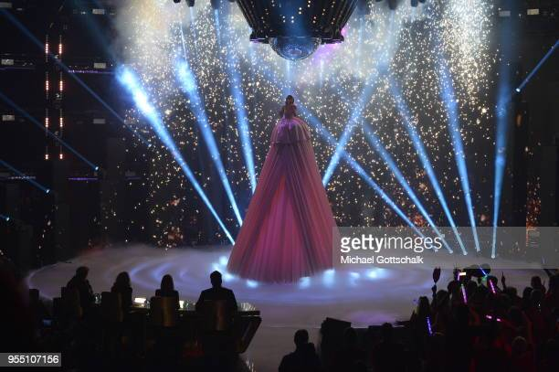 Marie Wegener, winner of the finals of the tv competition 'Deutschland sucht den Superstar' at Coloneum on May 5, 2018 in Cologne, Germany.