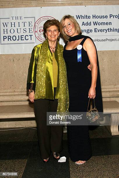 Marie Wilson and Julie Gilbert arrive at the White House Cultural Changers Epic Awards at American Museum of Natural History on April 17 2008 in New...