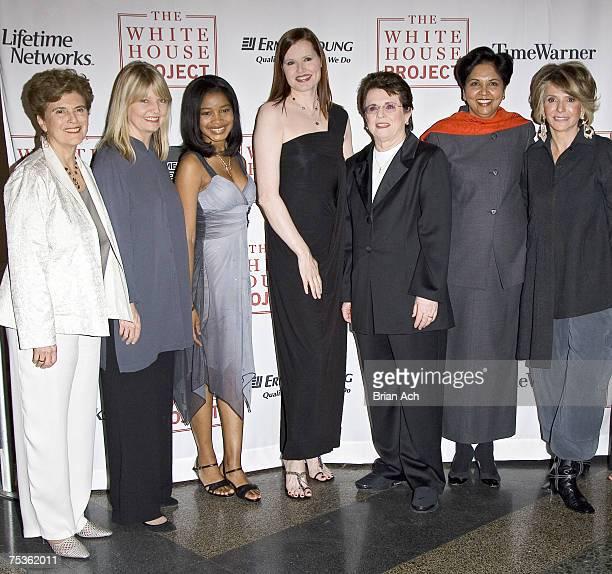 Marie Wilson Head of the White House Project Nancy Hult Ganis Keke Palmer Geena Davis Billie Jean King Indra Nooyi Pepsico President and CEO Sheila...