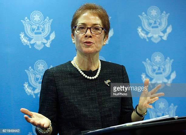 Marie Yovanovitch the US Ambassador to Ukraine during Presidential USA election night in Kiev Ukraine on 9 November 2016