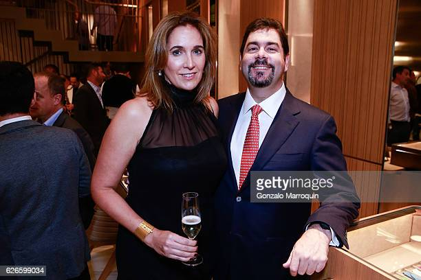 Marie Zapata abd Hernan Zapata at the Angelo Bonati Celebrates SHoP Architects the Winner of the 2016 Panerai Design Miami Visionary Award on...