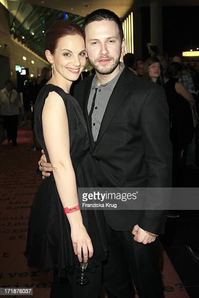Marie Zielcke And Franz Dinda at the Premiere Of Sat1 event twoparter The Border Cinestar in Berlin Sony Center in Berlin