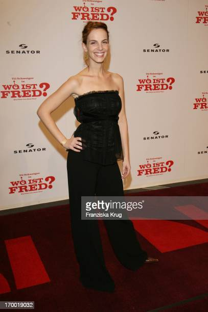 """Marie Zielcke At The Premiere Of """"Where Is Fred?"""" In the Cinestar Sony Center in Berlin."""