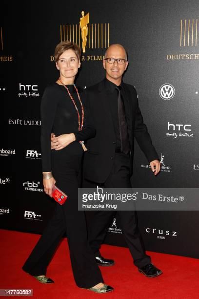 Marie Zielcke Christoph Maria Herbst attend the Lola German Film Award 2012 at Friedrichstadtpalast on April 27 2012 in Berlin Germany