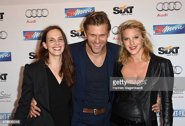 Marie Zielcke, Jens Atzorn and Eva-Maria Grein von Friedl attend the Audi Director's Cut at the Praterinsel during the Munich Film Festival at...
