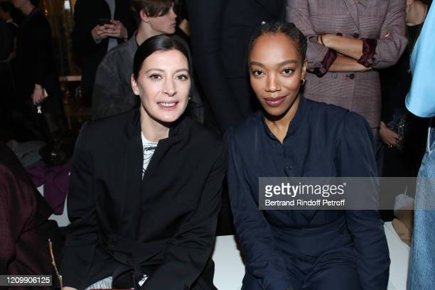 MarieAgnes Gillot and Naomi Ackie attend the Stella McCartney show as part of the Paris Fashion Week Womenswear Fall/Winter 2020/2021 on March 02...