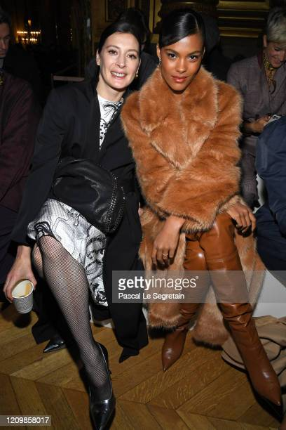 MarieAgnes Gillot and Tina Kunakey attend the Stella McCartney show as part of the Paris Fashion Week Womenswear Fall/Winter 2020/2021 on March 02...