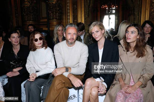 MarieAgnes Gillot Isabelle Huppert Husband of Stella Alasdhair Willis Poppy Delevingne and Alexa Chung attend the Stella McCartney show as part of...