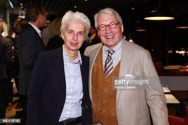 MarieAgnes StrackZimmermann and Horst StrackZimmermann attend the Housewarming Party at Andreas Quartier GmbH on October 11 2017 in Duesseldorf...