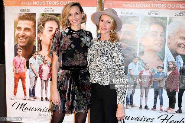 MarieAldine Girard and AnneSophie Girard attend Mauvaises Herbes Premiere at UGC Cine Cite des Halles on November 12 2018 in Paris France
