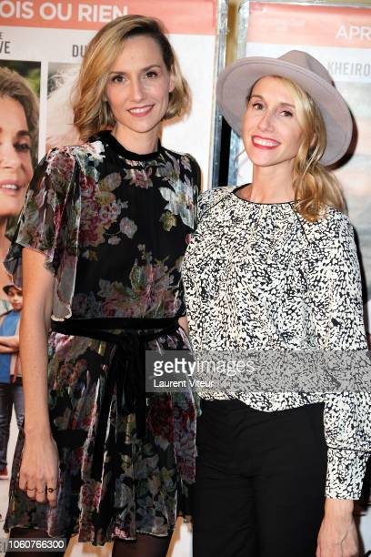 MarieAldine Girard and AnneSophie Girard attend 'Mauvaises Herbes' Premiere at UGC Cine Cite des Halles on November 12 2018 in Paris France