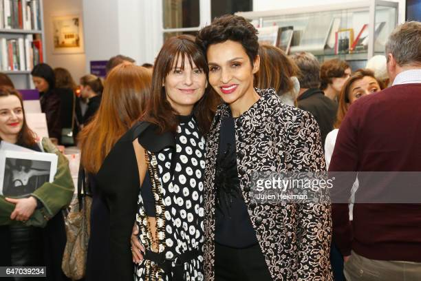 MarieAmelie Sauve and Farida Khelfa attend the launch and book signing of Mastermind Magazine as part of Paris Fashion Week Womenswear Fall/Winter...