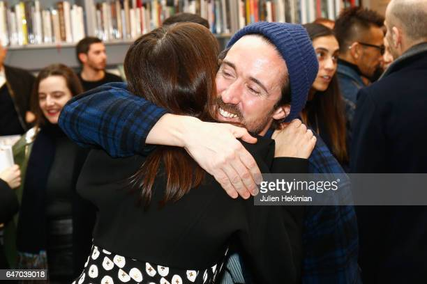 MarieAmelie Sauve and Paul Hanlon attend the launch and book signing of Mastermind Magazine as part of Paris Fashion Week Womenswear Fall/Winter...