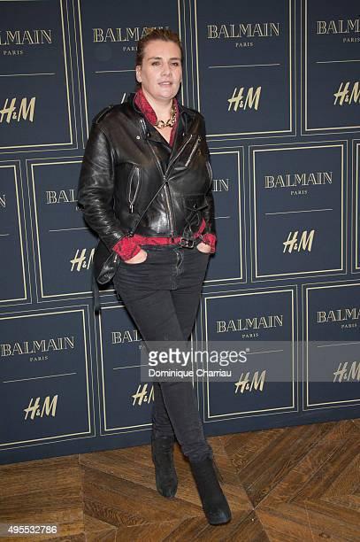 MarieAmelie Seigner attends the BALMAIN x HM Paris Launch Party on November 3 2015 in Paris France