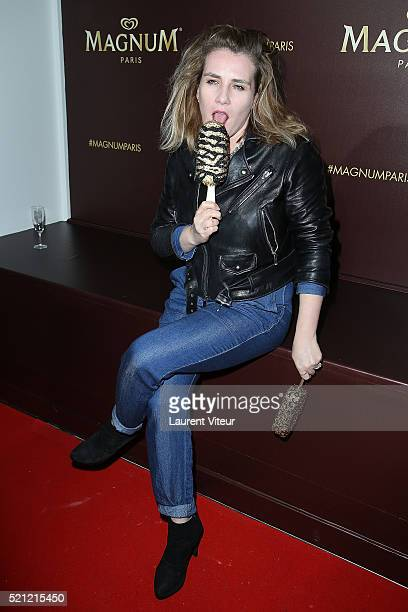 MarieAmelie Seigner attends the Magnum Paris Concept Store Opening on April 14 2016 in Paris France