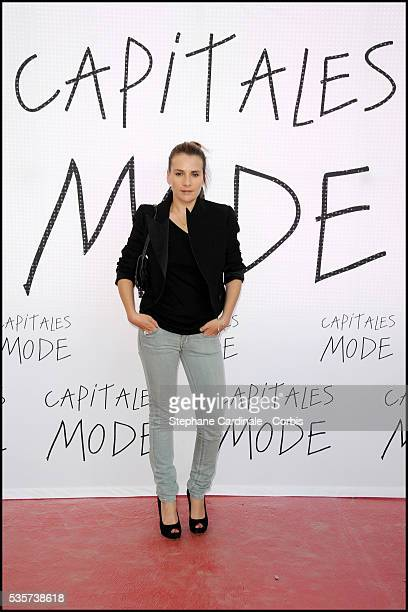 MarieAmelie Seigner attends the world's biggest fashion show '2nd edition' at Galeries Lafayette where the Guinness World Record for the most people...