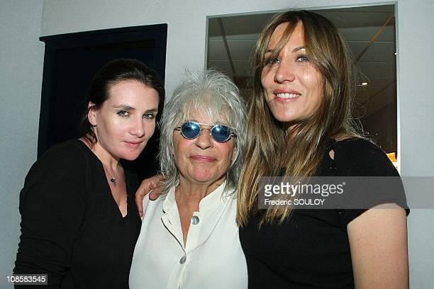 MarieAmelie Seigner Catherine Lara and Mathilde Seignerin in Paris France on June 23 2009