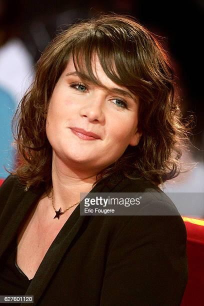 MarieAmelie Seigner on the set of Vivement Dimanche