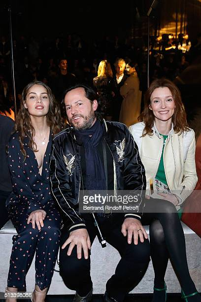 MarieAnge Casta Alexandre de Betak and Audrey Marnay attend the HM Studio show as part of the Paris Fashion Week Womenswear Fall/Winter 2016/2017 on...