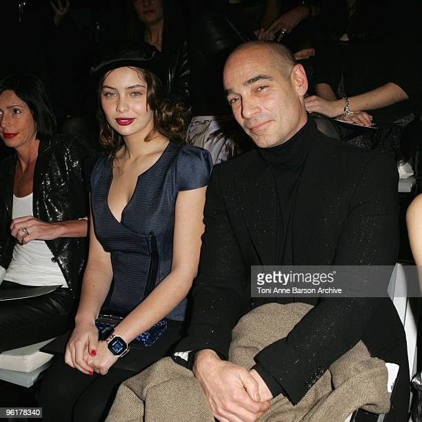 MarieAnge Casta and JeanMarc Barr attend the Giorgio Armani Prive HauteCouture show as part of the Paris Fashion Week Spring/Summer 2010 at Palais de...