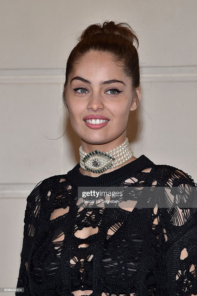 Marie-Ange Casta attends 'Chanel Collection des Metiers d'Art 2016/17 : Paris Cosmopolite' Show on December 6, 2016 in Paris, France.