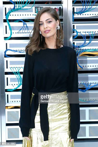 MarieAnge Casta attends the Chanel show as part of the Paris Fashion Week Womenswear Spring/Summer 2017 on October 4 2016 in Paris France