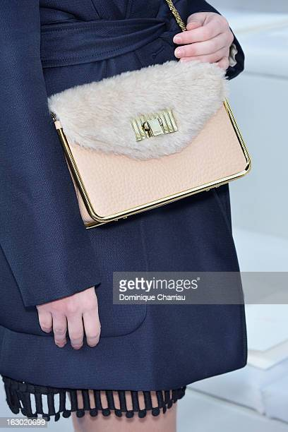 MarieAnge Casta attends the Chloe Fall/Winter 2013 ReadytoWear show as part of Paris Fashion Week on March 3 2013 in Paris France