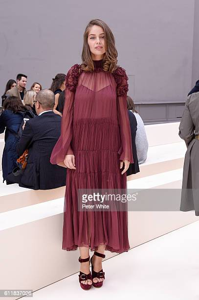 MarieAnge Casta attends the Chloe show as part of the Paris Fashion Week Womenswear Spring/Summer 2017 on September 29 2016 in Paris France