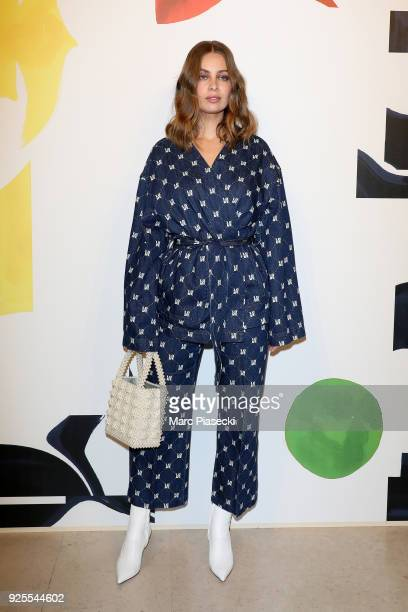 MarieAnge Casta attends the HM show as part of the Paris Fashion Week Womenswear Fall/Winter 2018/2019 on February 28 2018 in Paris France