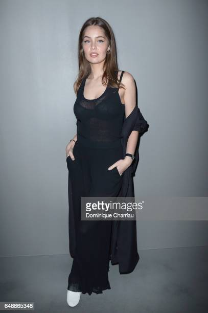 MarieAnge Casta attends the HM Studio show as part of the Paris Fashion Week> on March 1 2017 in Paris France