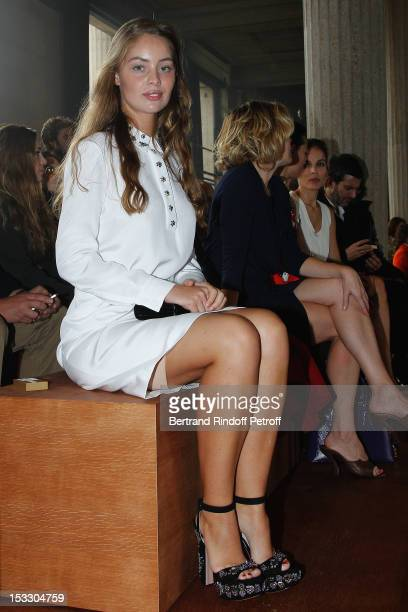 MarieAnge Casta attends the Miu Miu Spring/Summer 2013 show as part of Paris Fashion Week on October 3 2012 in Paris France