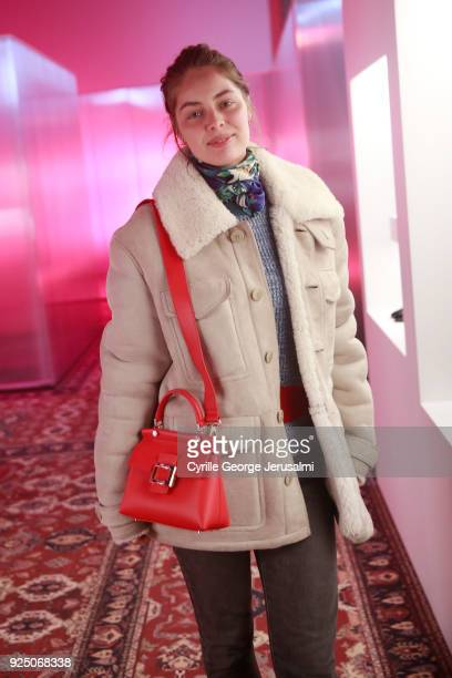 MarieAnge Casta attends the Roger Vivier Fall/Winter 2018 Press Presentation at Espace Cambon Capucines during Paris Fashion week on February 27 2018...