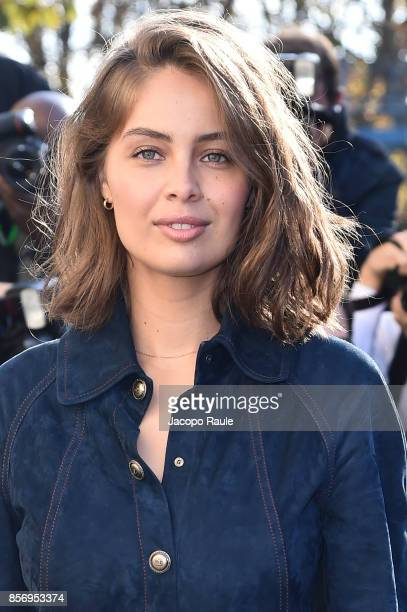 MarieAnge Casta is seen arriving at Chanel show during Paris Fashion Week Womenswear Spring/Summer 2018on October 3 2017 in Paris France