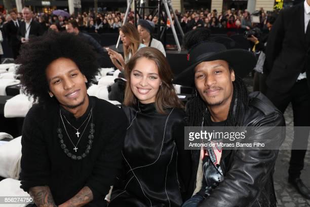 MarieAnge Casta Laurent Bourgeois Larry Bourgeois attend Le Defile L'Oreal Paris show as part of the Paris Fashion Week Womenswear Spring/Summer 2018...