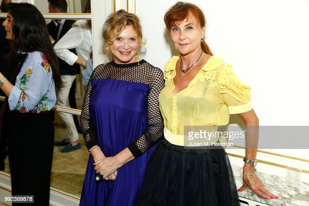 MarieAnge Horlaville and Judith Girard attend the Liu Lisi Charity Gala Dinner with Unicef at Hotel Plaza Athenee on July 5 2018 in Paris France