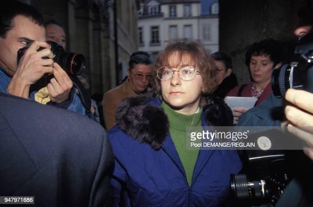 MarieAnge Laroche a l'ouverture du proces de JeanMarie Villemin pour le meurtre de Bernard Laroche l'epoux de Marieange Laroche le 24 novembre 1993 a...