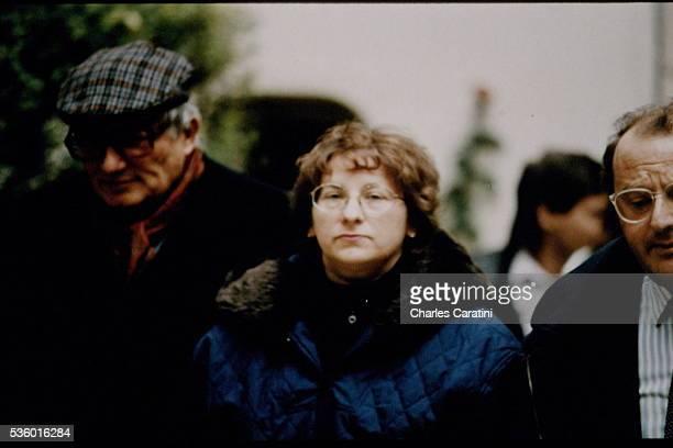 MarieAnge Laroche widow of Bernard Laroche during the trial at the Dijon Court