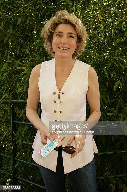 MarieAnge Nardi visits Roland Garros village during the 2005 French Open tennis