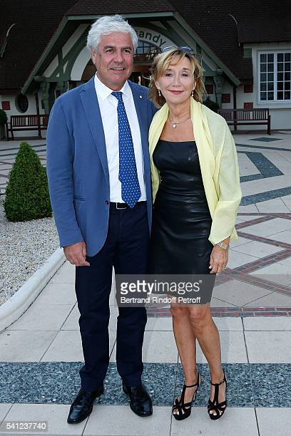 MarieAnne Chazel and Philippe Raffard attend the Hotel Normandy ReOpening at Hotel Normandy on June 18 2016 in Deauville France