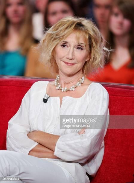 MarieAnne Chazel attends Vivement Dimanche Tv show in Paris France on April 13 2011