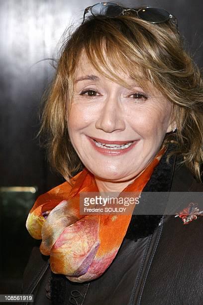 MarieAnne Chazel in Paris France on January 22 2007