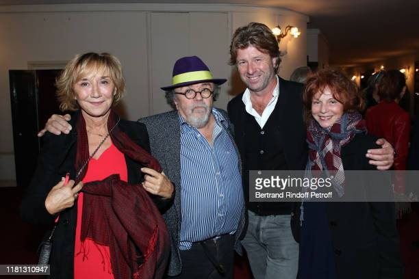 MarieAnne Chazel Stage director of the show JeanMichel Ribes Richard Caillat and Agathe Natanson attend the Palace Theater Play at Theatre de Paris...
