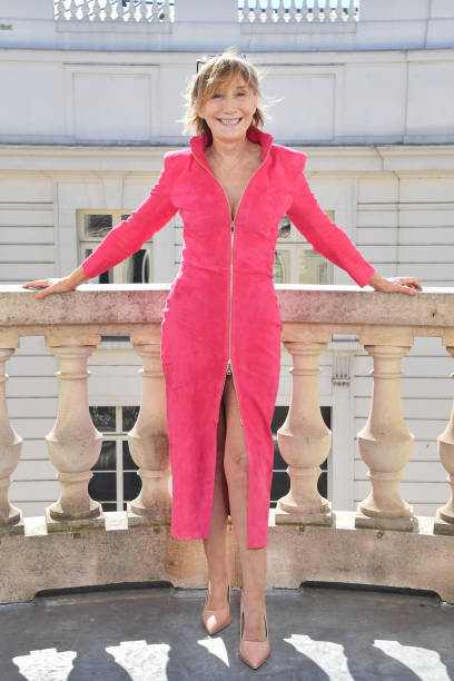 FRA: Marie-Anne Chazel Tries Outfits At Jean Claude Jitrois For The Cesar Ceremony