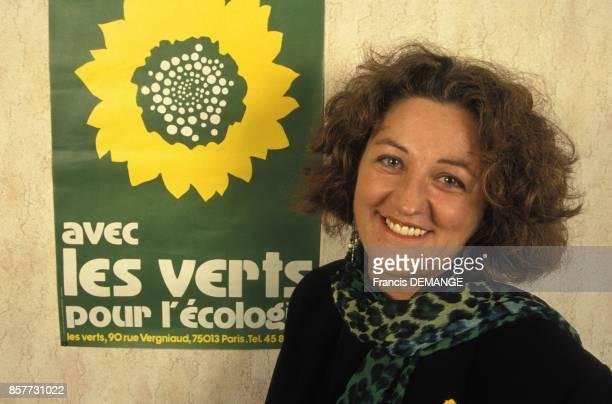 MarieAnne Isler Beguin tete de liste des Verts aux elections europeennes en janvier 1994 en France