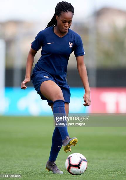 MarieAntoinette Katoto of France controls the ball during the U23 Women's International friendly match between the United States and France at La...