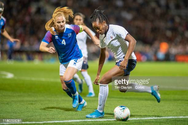 MarieAntoinette Katoto of France defended by Glodis Perla Viggosdottir of Icelandduring the France V Iceland Women's International Friendly match at...
