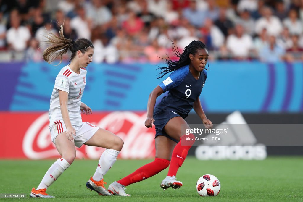 France v Spain  - FIFA U-20 Women's  World Cup France 2018 Semi Final : Nachrichtenfoto