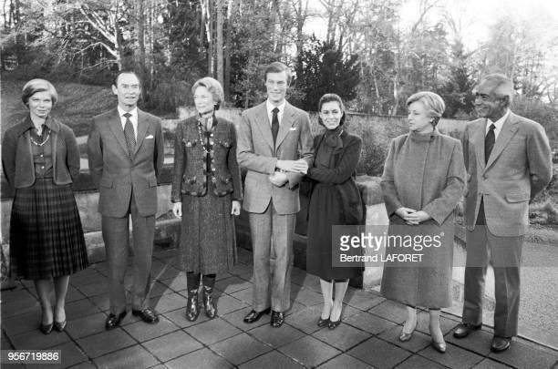 MarieAstrid de Luxembourg Grande Duchesse JoséphineCharlotte de Luxembourg le Grand Duc Jean le Prince Henri et sa fiancée Maria Theresa Mestre le 10...